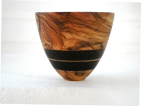 Olive and Cocobolo small vessel