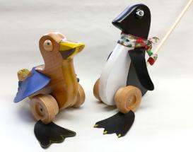Pushtoys. Duck and Penguin